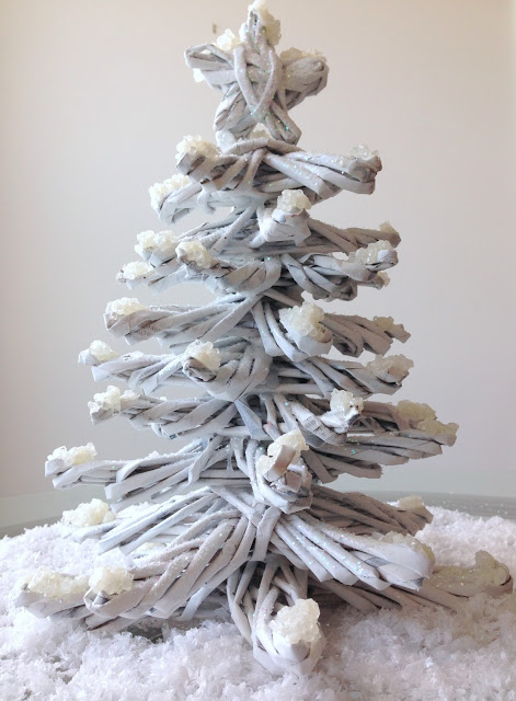 recycled newspaper christmas tree