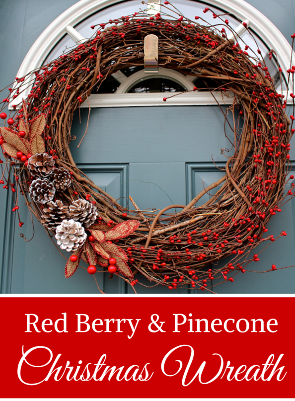 Red Berry And Pinecone Grapevine Christmas Wreath