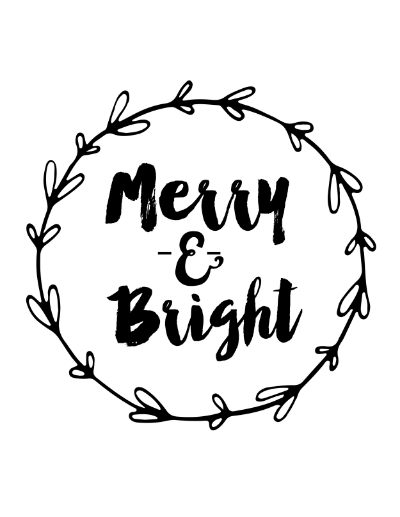 Merry Amp Bright Free Printable Weekend Craft