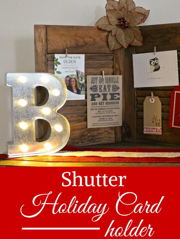 Shutter holiday card holder weekend craft m4hsunfo