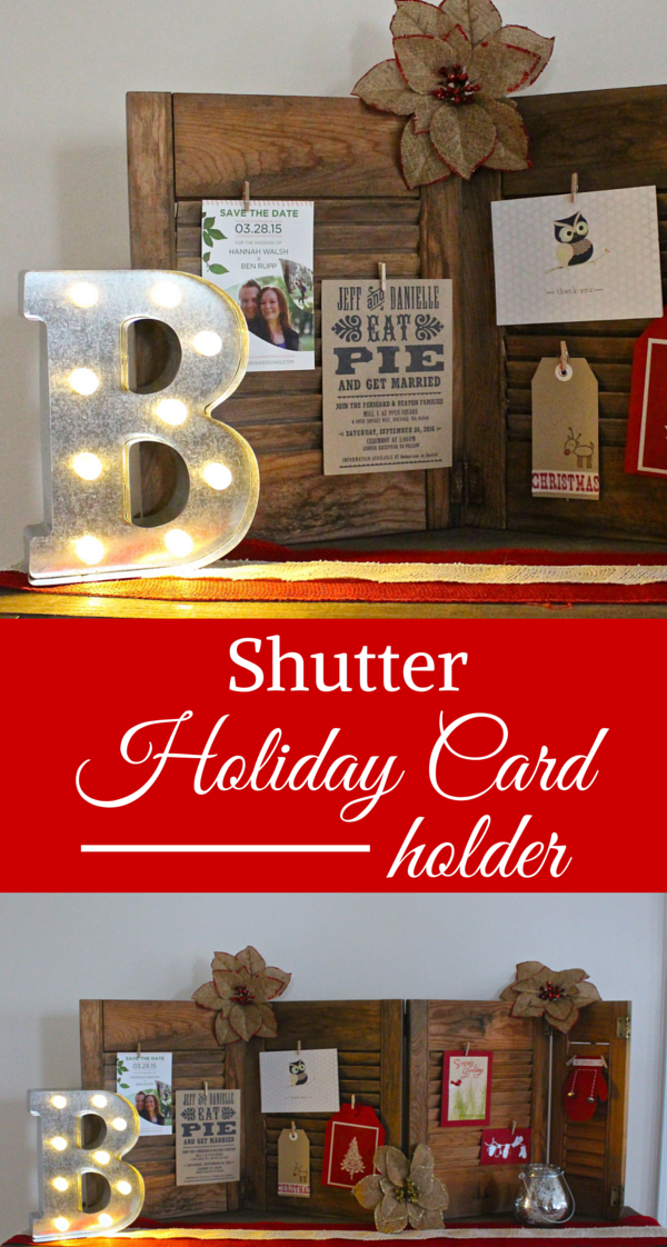 Shutter Holiday Card Holder