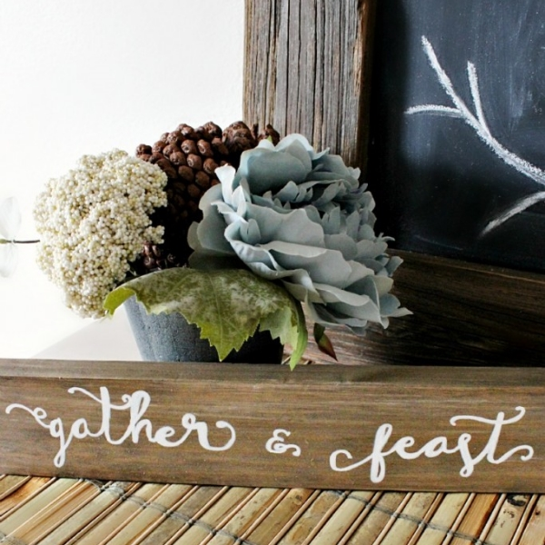 Gather and Feast Sign