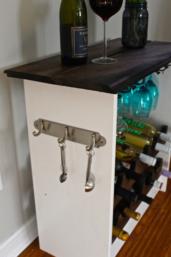 ikea hack wine rack with hooks