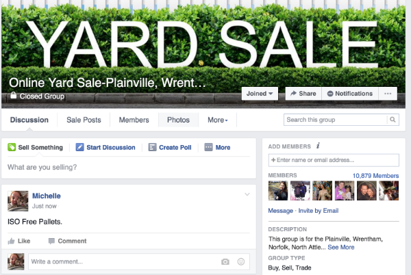 Fbook Yard Sale Group
