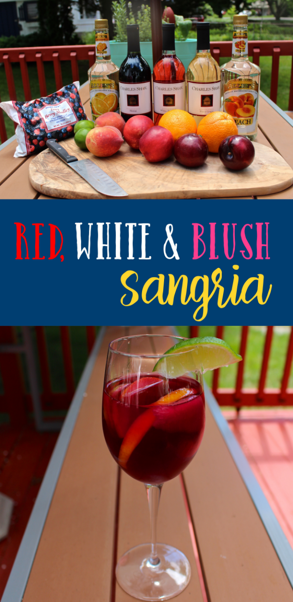 Red, White and Blush Sangria Recipe