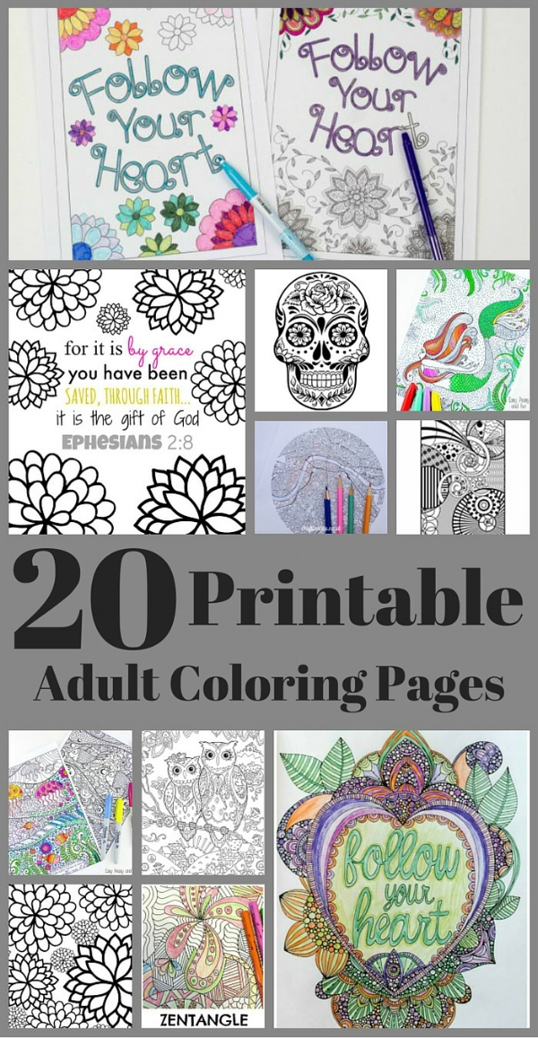20 adult coloring pages