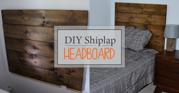 DIY Shiplap Headboard