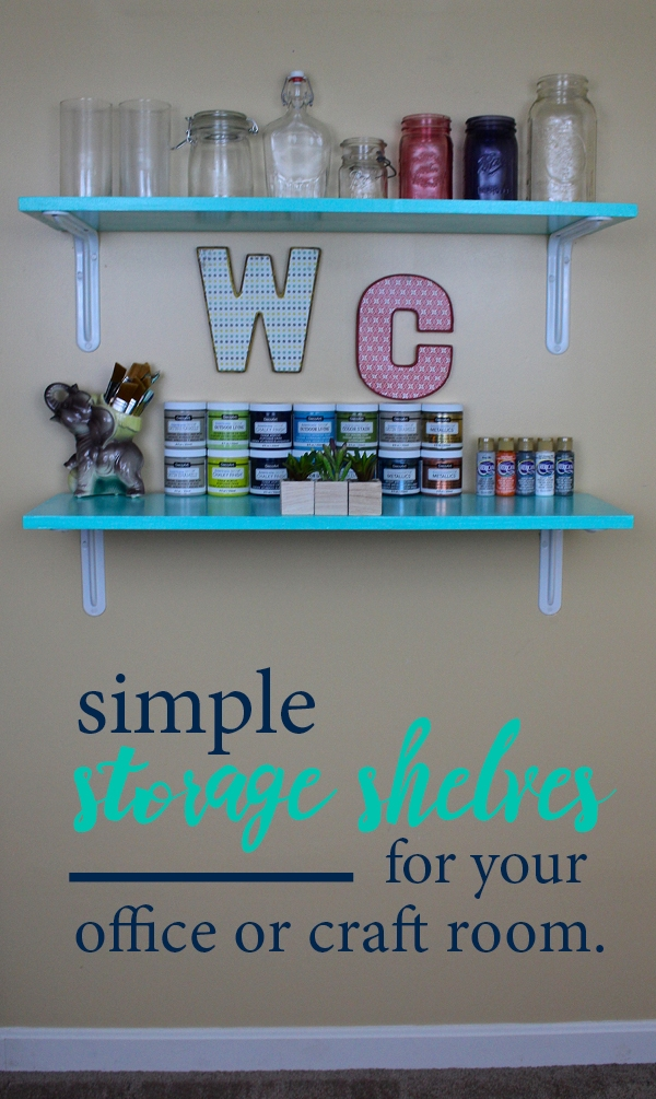 Simple storage shelves for your office or craft room & Simple storage shelves for your office or craft room. u2014 Weekend Craft