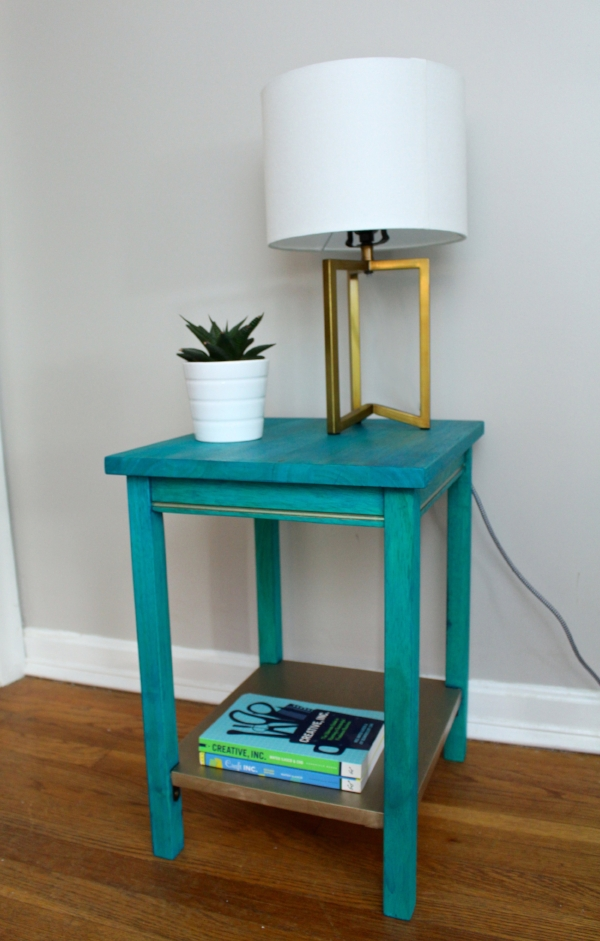 Dyed wood end table