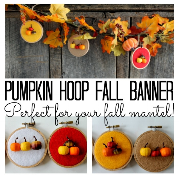 pumpkin hoop fall banner