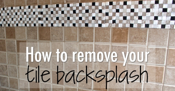 how to remove tile backsplash weekend craft