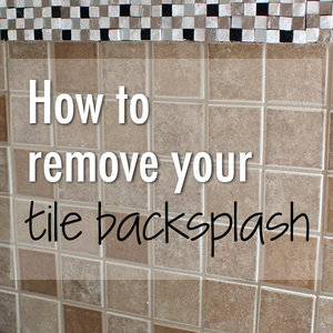 how to remove tile backsplash - Removing Tile Backsplash