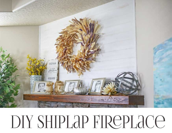 Shiplap fireplace