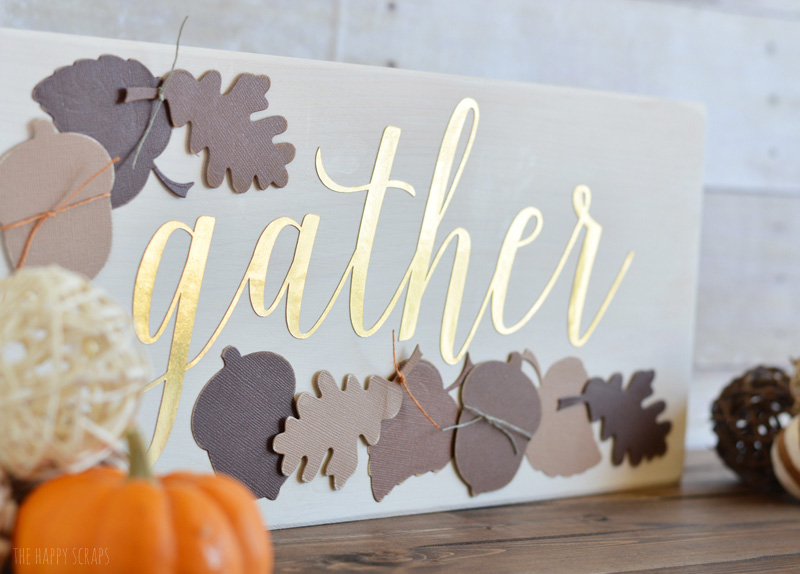 Gather sign Thanksgiving