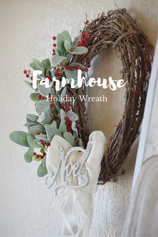Farmhouse Holiday Wreath