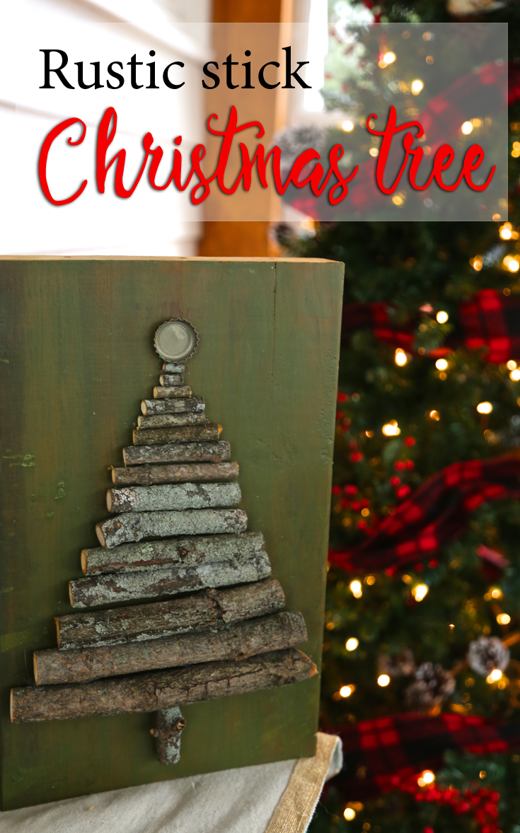 DIY Rustic Stick Christmas Tree
