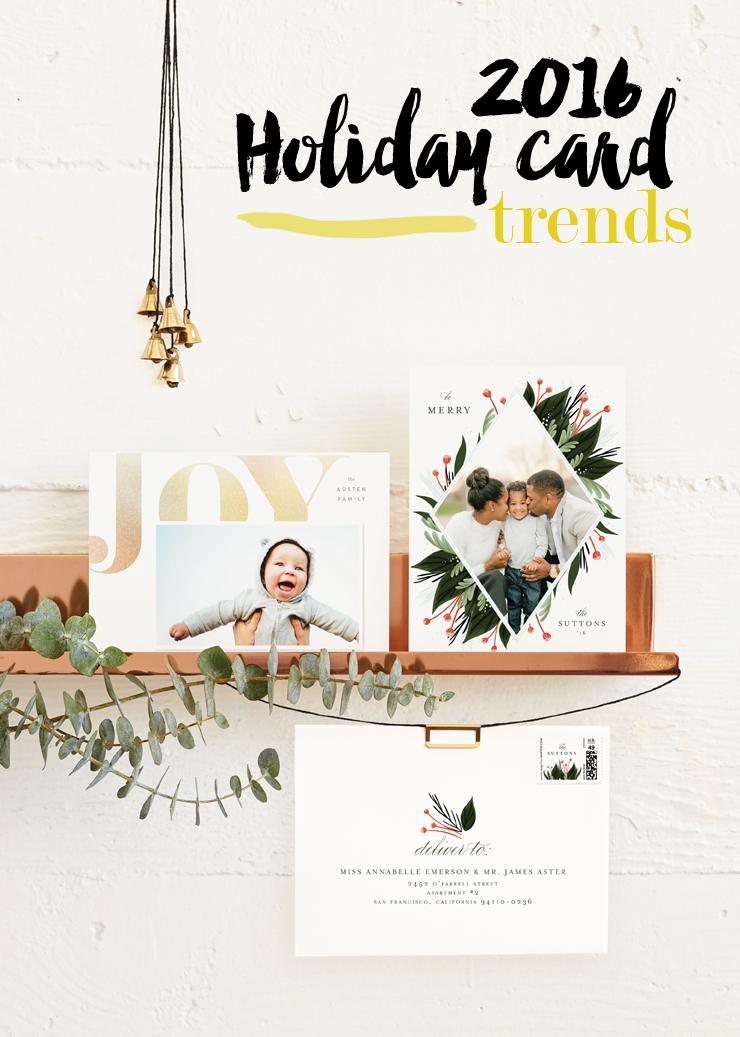 2016 holiday card trends