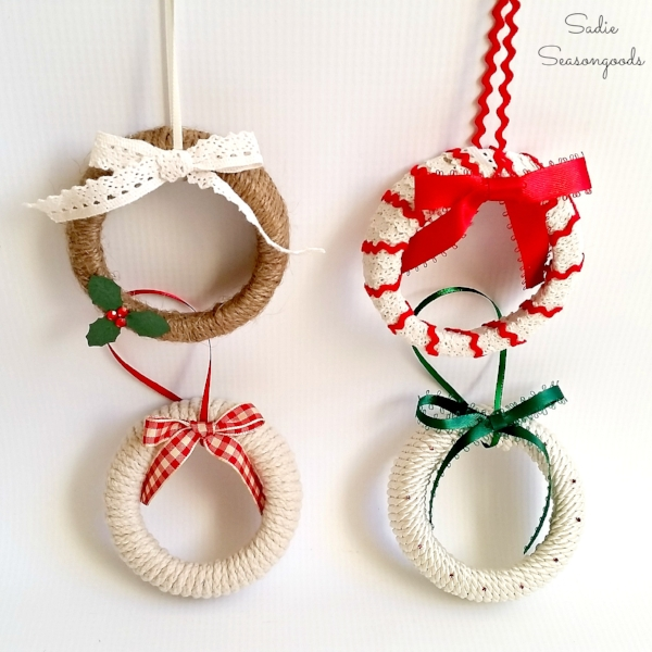 mason jar lid wreath ornament