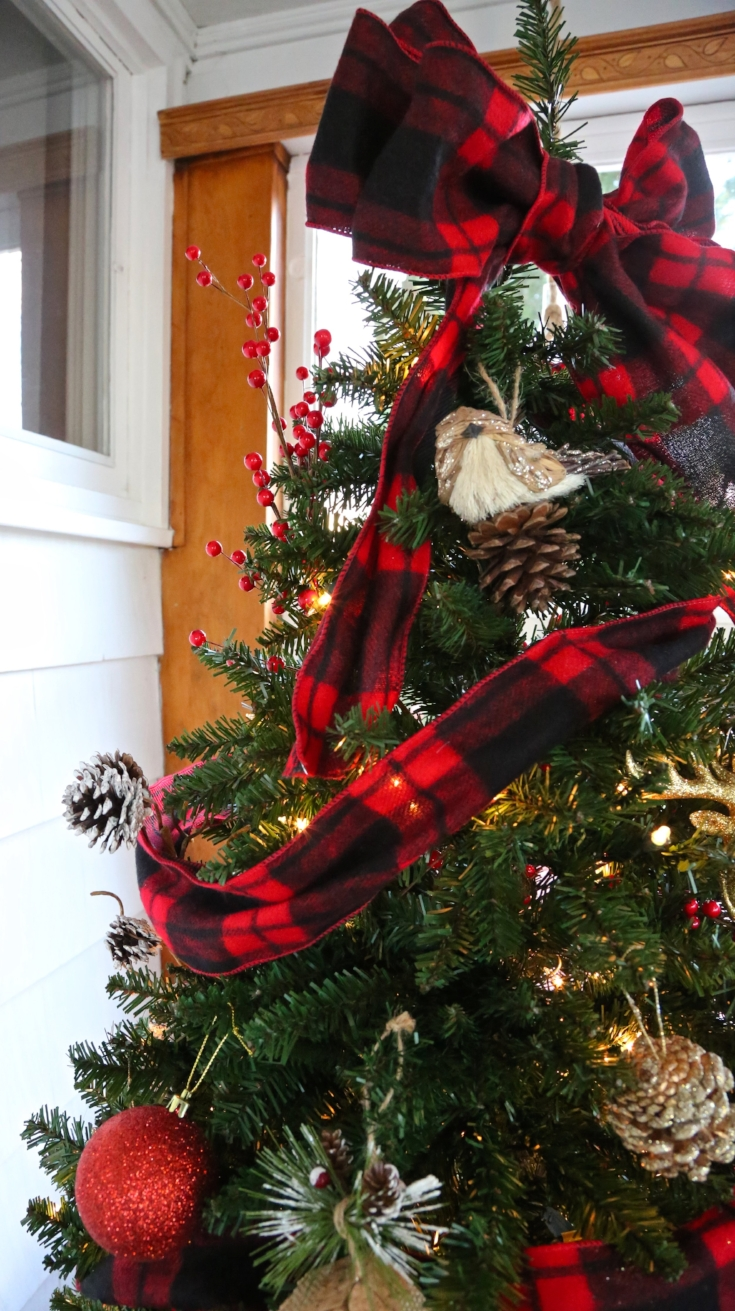 buffalo check christmas tree - Red And Black Plaid Christmas Decor