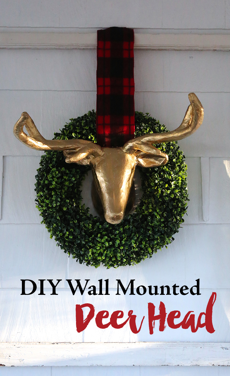 DIY Wall mounted faux deer head