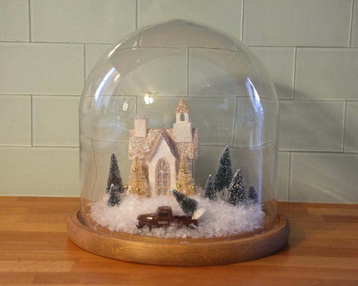 apothecary snow globe terrarium