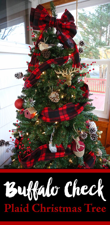 buffalo check plaid christmas tree from weekend craft - Christmas Photo Ideas