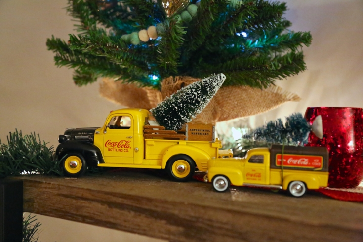 Vintage Coca Cola trucks Christmas