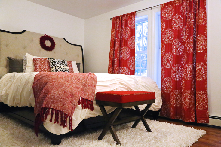 Bloggers Heart Habitat - red and bold master bedroom
