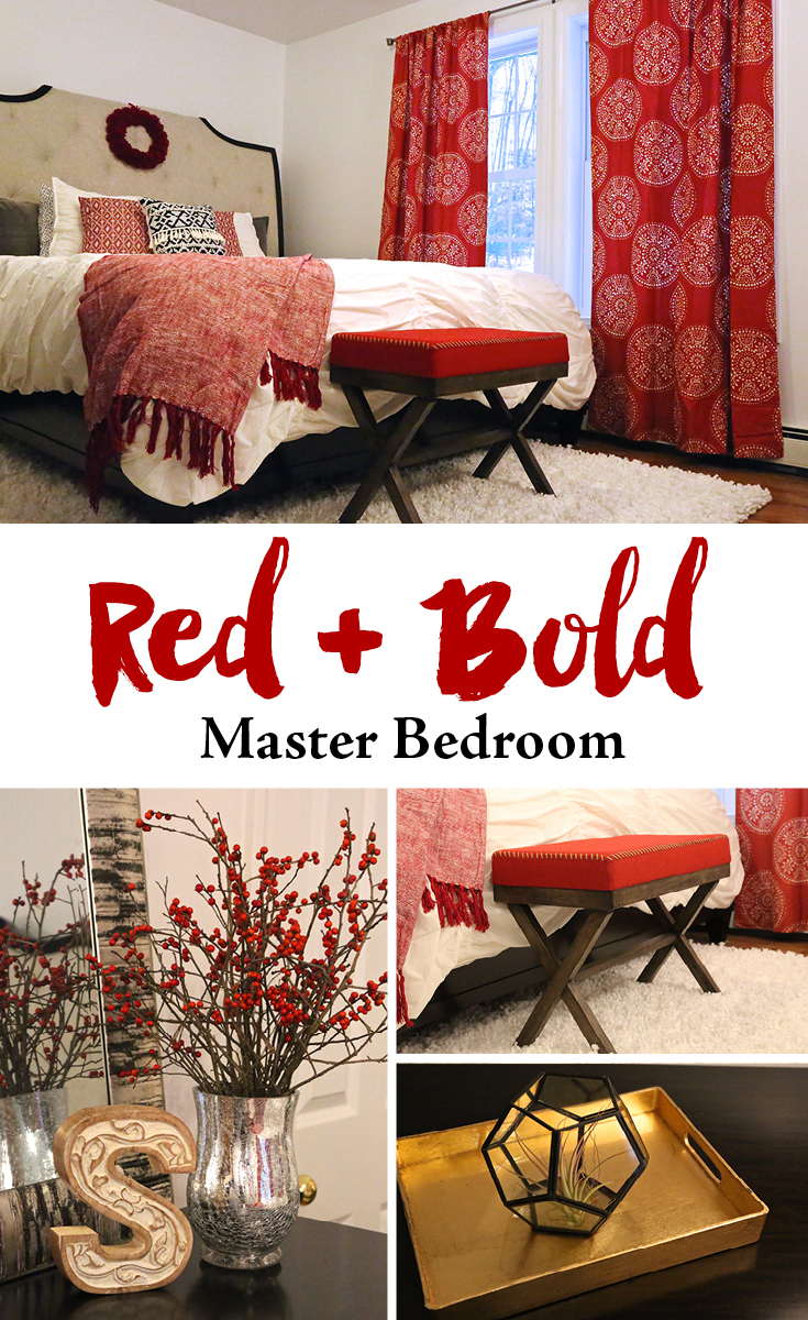 Red and Bold Master Bedroom