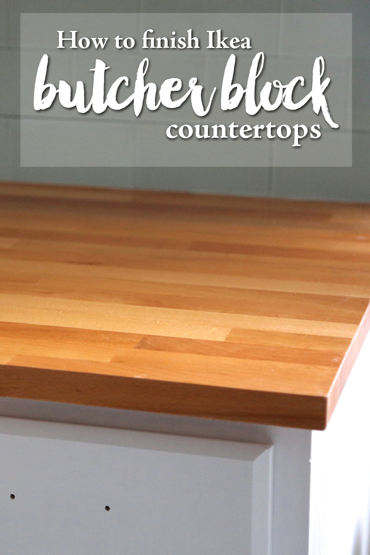How to finish ikea butcher block countertops