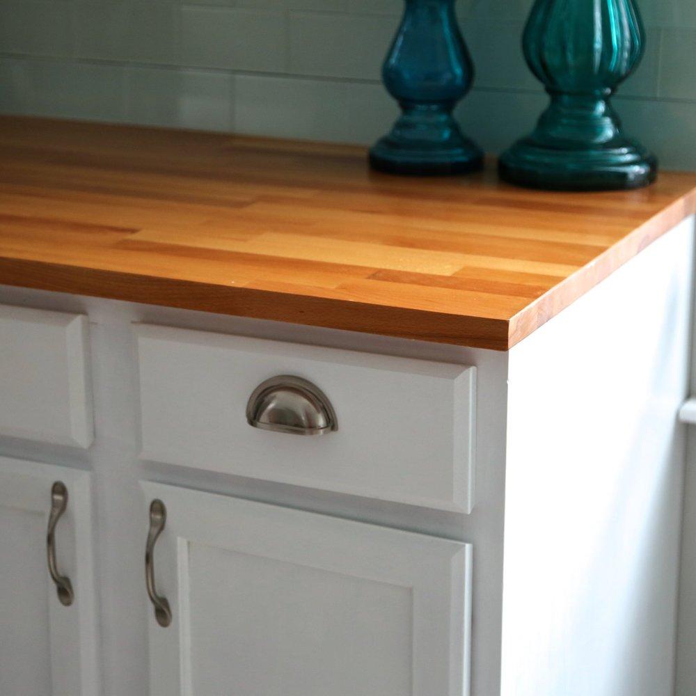 How to install ikea butcher block countertops weekend craft for Butcher block countertops installation