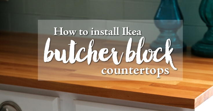 How to install ikea butcher block countertops weekend craft How to install butcher block countertop
