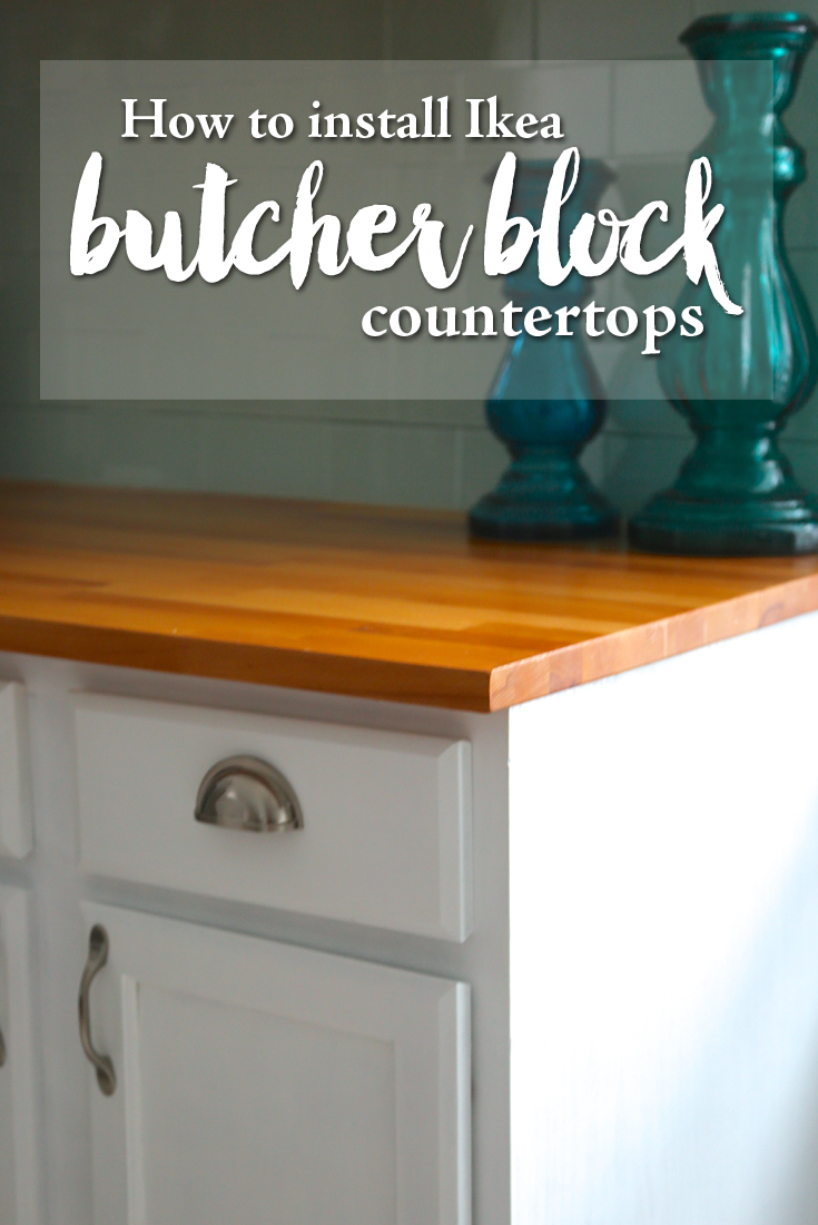 How to finish ikea butcher block countertops weekend craft How to install butcher block countertop