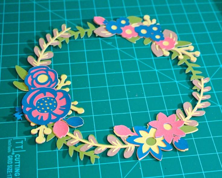 paper floral wreath