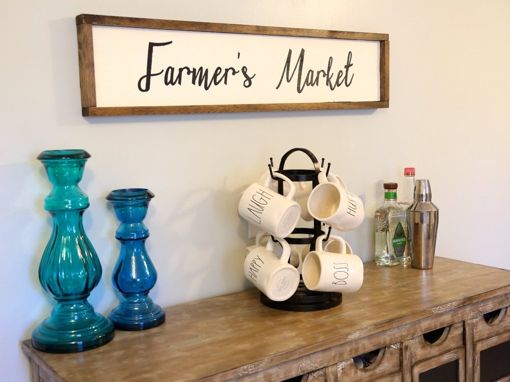 DIY Farmer's Market Wood Sign