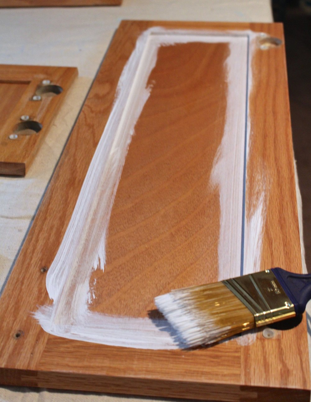 How To Paint Oak Kitchen Cabinets Weekend Craft