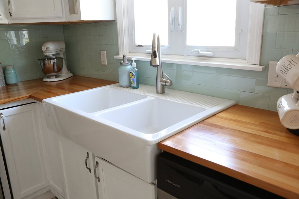 Installing a farmhouse sink