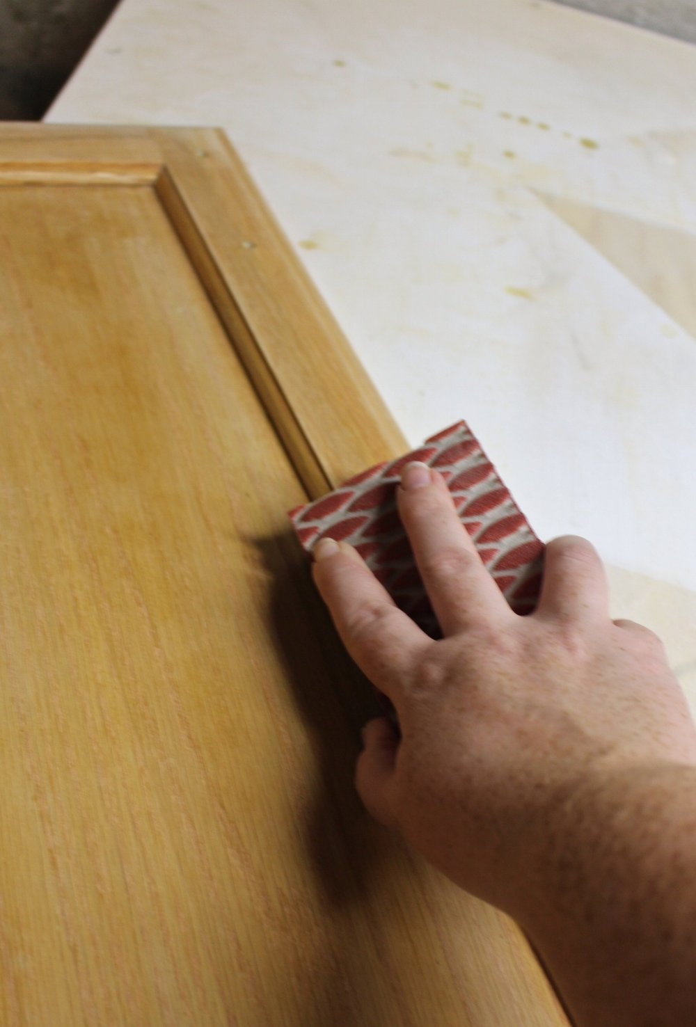 sanding curved edges by hand