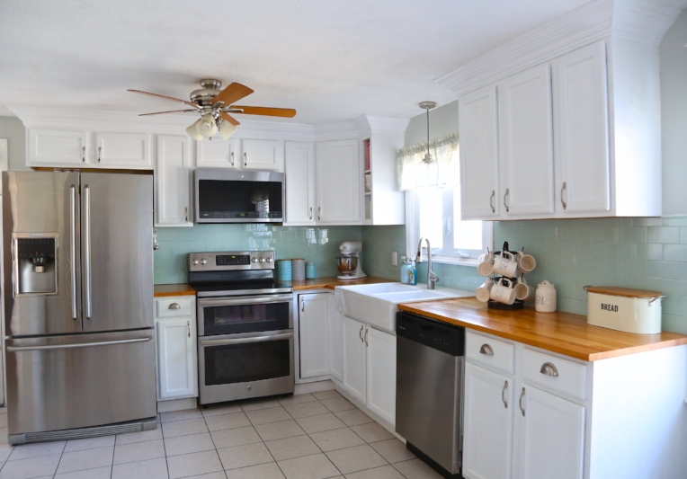 Kitchen Cabinets With Added Crown Molding