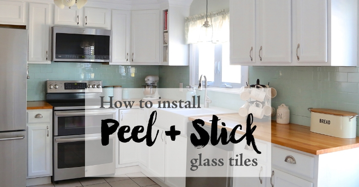 Installing Peel And Stick Glass Tiles Weekend Craft Delectable Installing Tile Backsplash