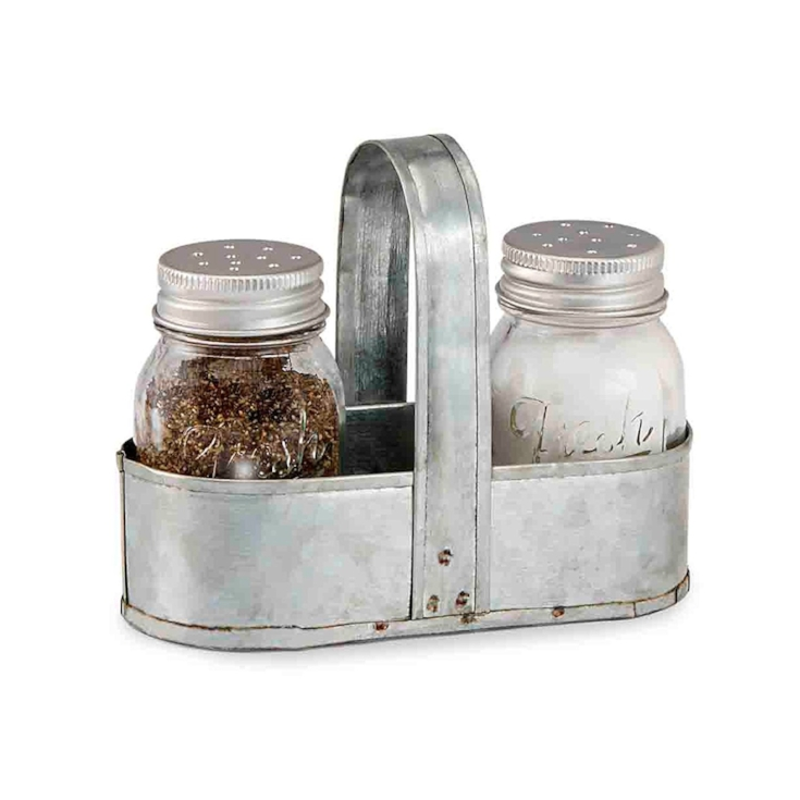 Farmhouse Mason Jar Salt and pepper shaker