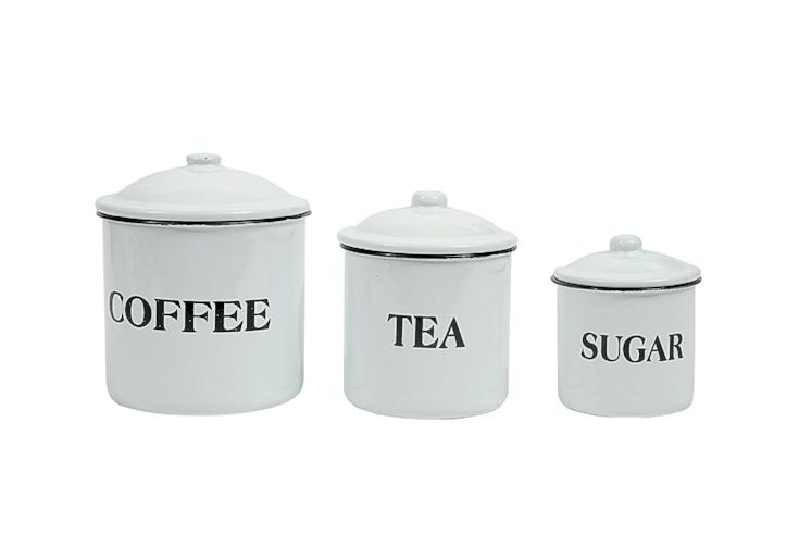 Coffee Tea Sugar Canister Set