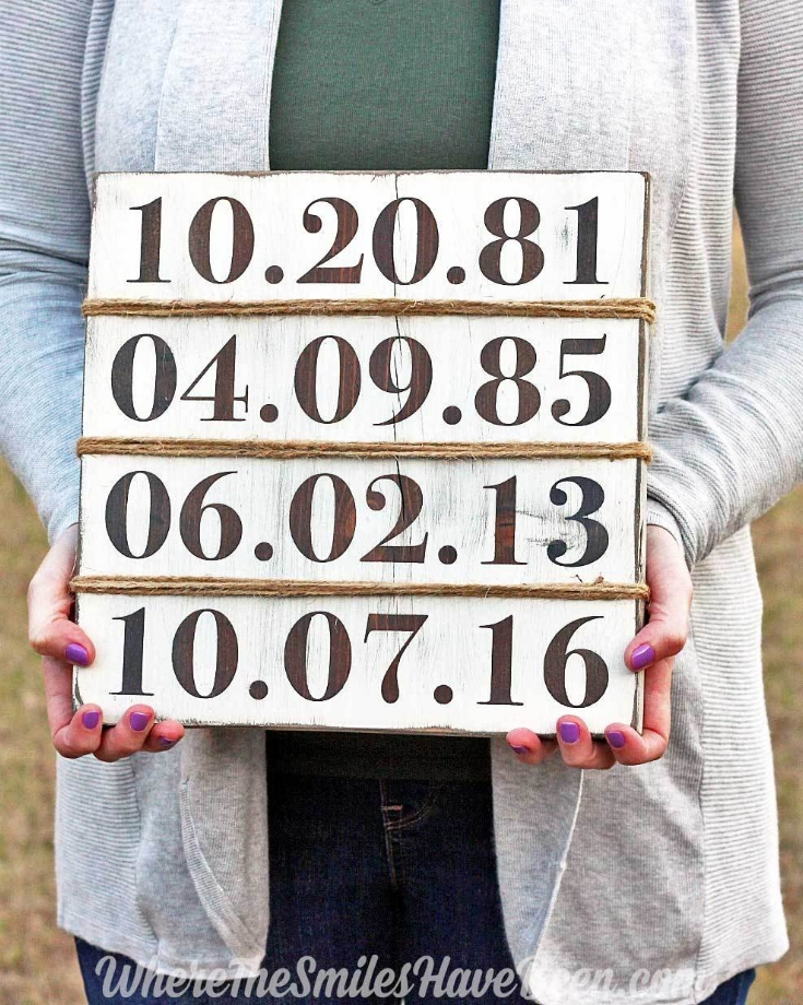 Rustic Family Birthday Sign