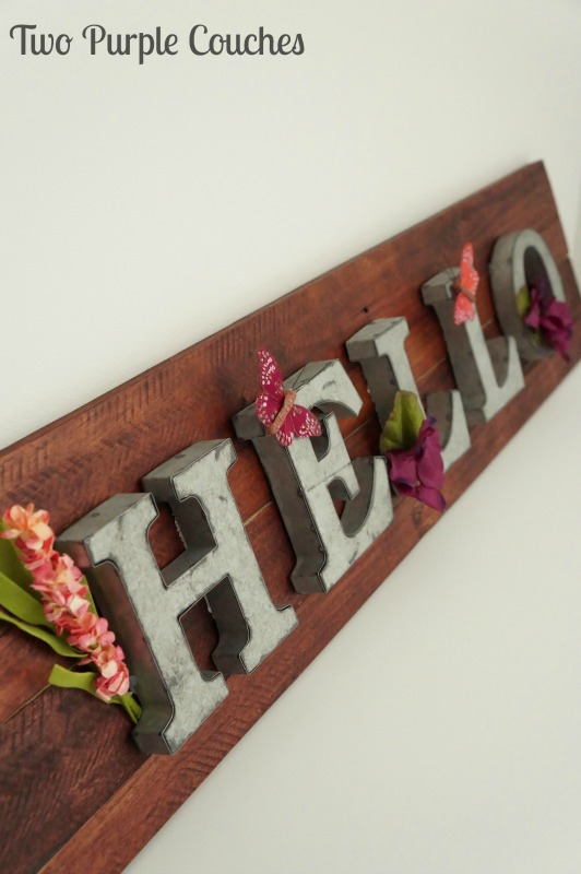Hello Pallet Wood Sign