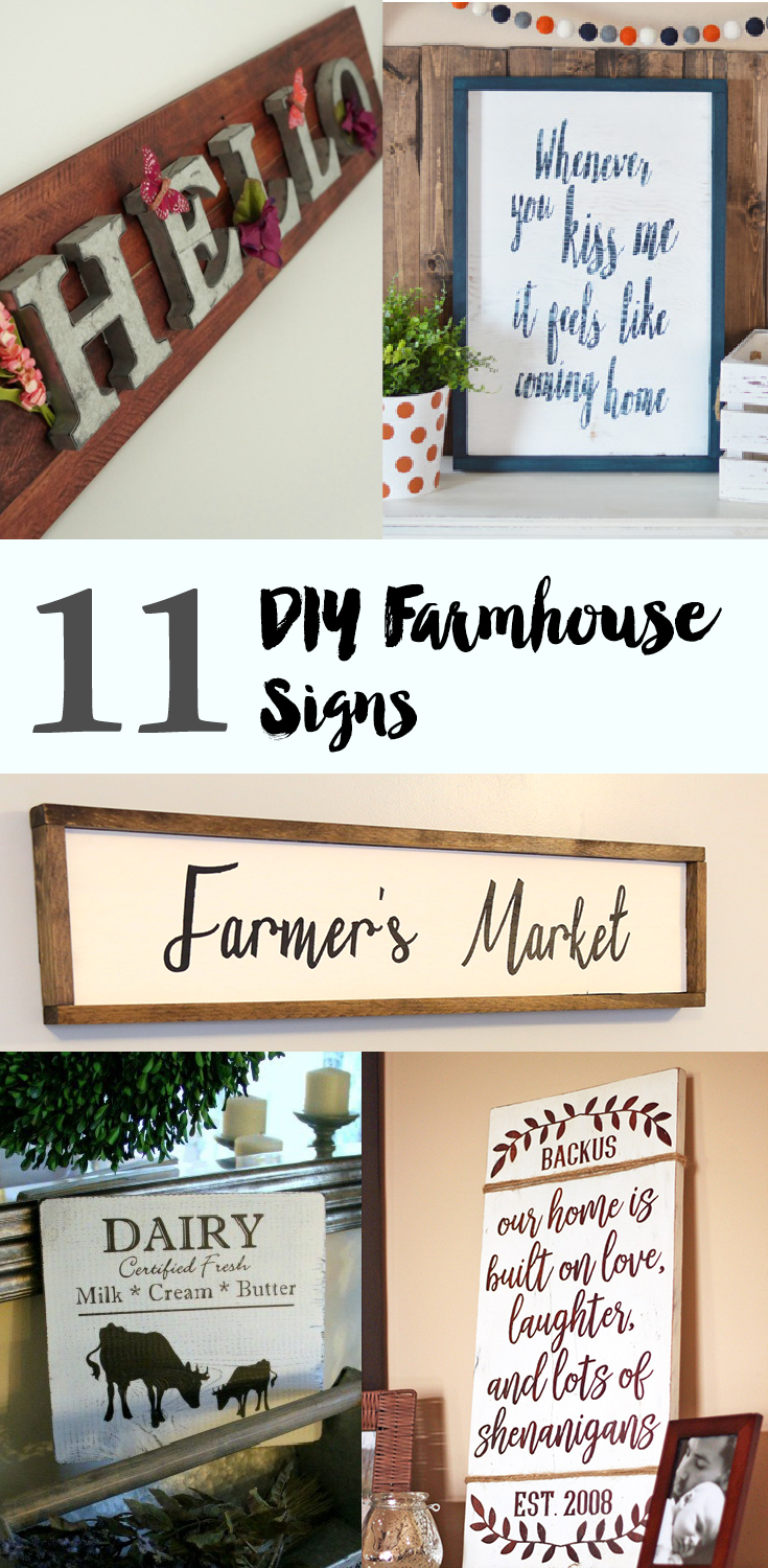 11 DIY Farmhouse Signs