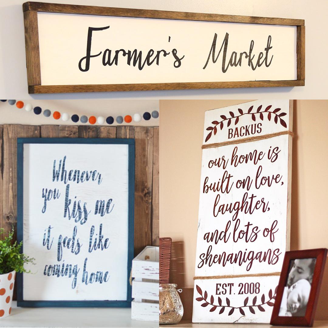11 Diy Farmhouse Signs Weekend Craft