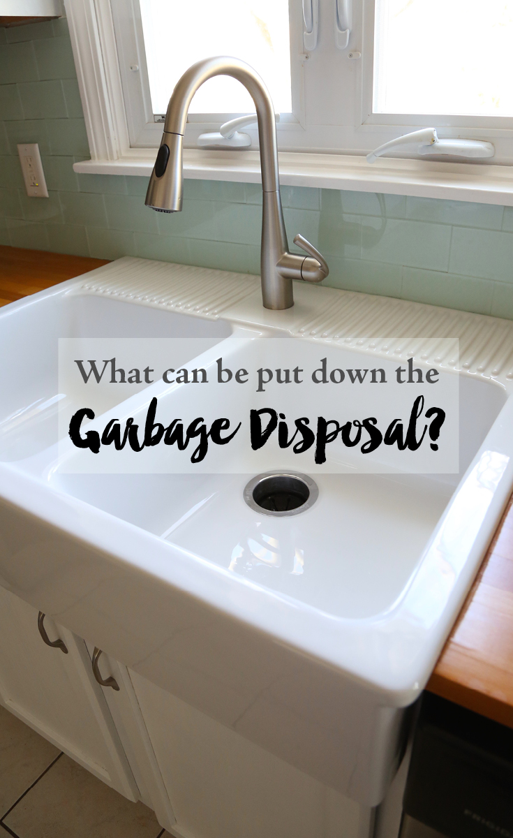 Attractive What Can Be Put Down the Garbage Disposal? — Weekend Craft HC21