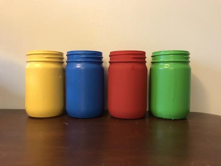 Painted Crayon Mason Jar 2