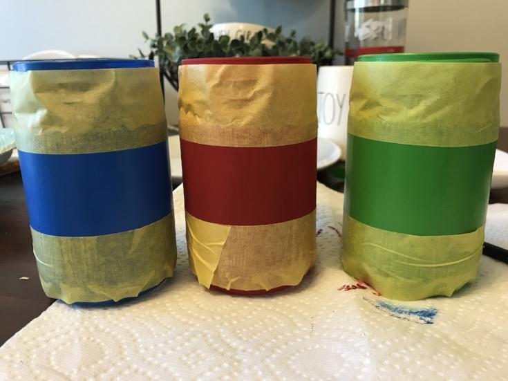 painters tape mason jars