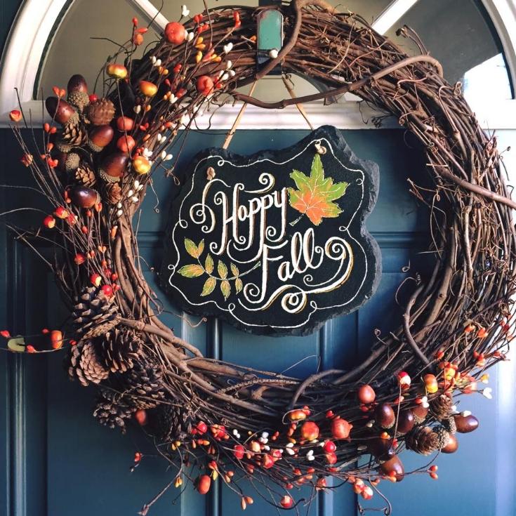 DIY Grapevine Fall Wreath